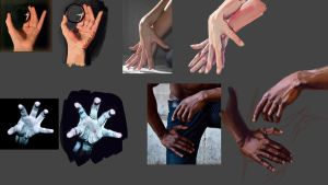 Hand Studies by Alemja
