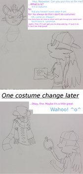 Meowster gets cosplayed. by KainOblivion