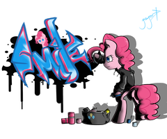 Pinkie Grafitti by TheYoungReaper