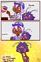 Venonat is the pokemon god by Kipaki