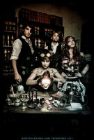 Steampunk team by Mikycosplay