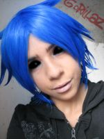 Gorillaz Cosplay- 2D Makeup test by haozeke93