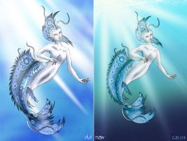 Mermaid: Comparison Old-New by WearManyHats