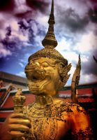 sculpture in wat phra kaew 2 by xxonnn