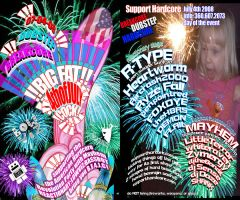 big fat 4th of july cock flyer by reactionarypdx