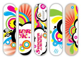 Skateboarding graphics by emi-Chen