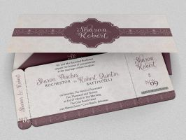 Wedding Boarding Pass Invitation Template by Godserv
