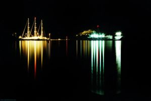 nocturnal seascape, Serifos by mrtso