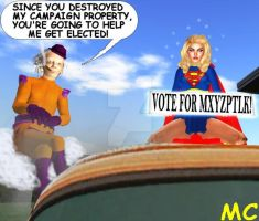 Supergirl Says Vote For Mxyzptlk by The-Mind-Controller