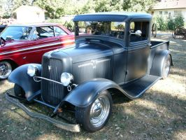 1934 Ford V8 closed cab pickup truck by RoadTripDog