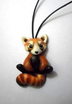 Red Panda Necklace by dashase