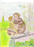 St.Anthony and the Child Jesus by anelphia