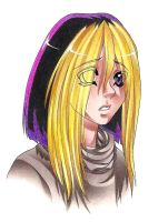Yugi with straight hair by Megaloceros-Urhirsch
