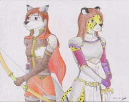 Jead and Tamani by EagleRick