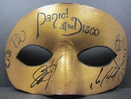 Panic at the Disco signed mask by maskedzone