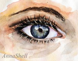 Eye study watercolor by AnnaShell