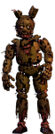 Slightly More Withered Springtrap by PinkAmpharos