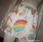 UPcycled bed sheet Rainbow Brite SKirt by Corset-Hoodies