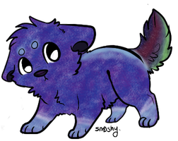 ~Open~ the sort galaxy puppy by Skittlezeon