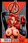 Naughty Black Widow selfie cover commission by gb2k