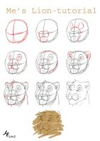 Me's lion tutorial by Pestdoktor