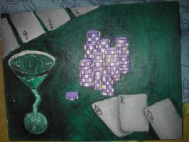 Card Games at the Cassino by Glacion