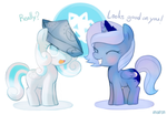 woona and snowdrop by Marenlicious