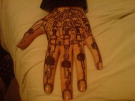 robot hand. by dead-pixie