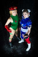 Cammy White and Chun Li by OniksiyaSofinikum