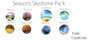 .:Skydomes:. Seasons Skydome Pack by MMDAnimatio357