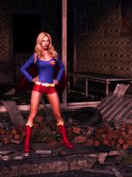 Supergirl in rubble by Transformerman