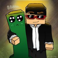 CptSparklez, Minecraft Fan Art by JinxDrawings