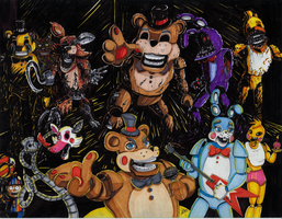 FNAF Print - COLORED by ArwingPilot114