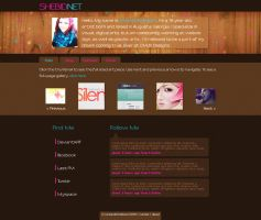 Personal Site Mockup by shebid