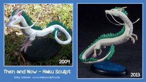 Then and Now : Haku Sculpt by emilySculpts