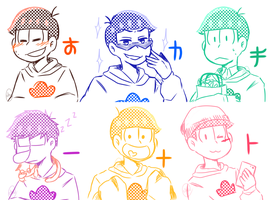 Six Shame Faces .:Doodle:. by Naokiiii