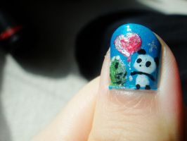 Dino and Panda nails 3 by MelodicInterval