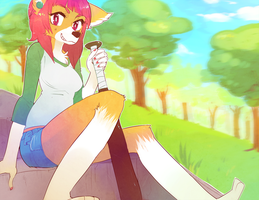 Commission: kittyjiggles -  Park Chillin by Jotaku