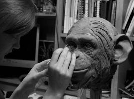 monkey sculpt by lizthompson