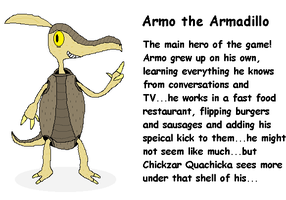 Armo the Armadillo by Catty-Mintgum