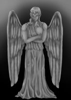 Doctor Who: Weeping Angel OC by MephilesTheCute09
