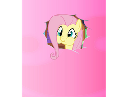 Fluttershy popping in by florecentflower