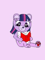 Twilight Sparkle the Care Bear by AClockworkKitten