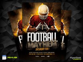 Super Bowl  FOOTBALL Flyer Template PSD by FlyerGeek