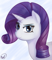 Rarity Portrait by Plazyma