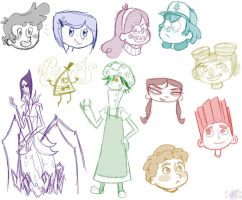 Mystery Kids Sketches by mysterykidsproject