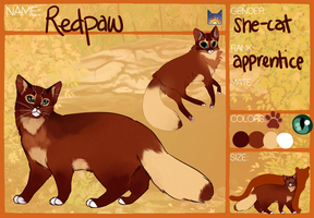 Redpaw Ref by PatchyFallenstar
