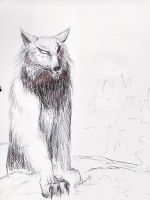 wolfy original with no pretyin by Black-Hearted-Poet