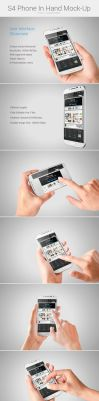 S4 Phone In Hand Mock-Up by Korch777