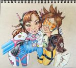 D-Va and Tracer Selfie by markangres